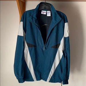 Vintage Reebok Half Zip Windbreaker Mesh Jacket